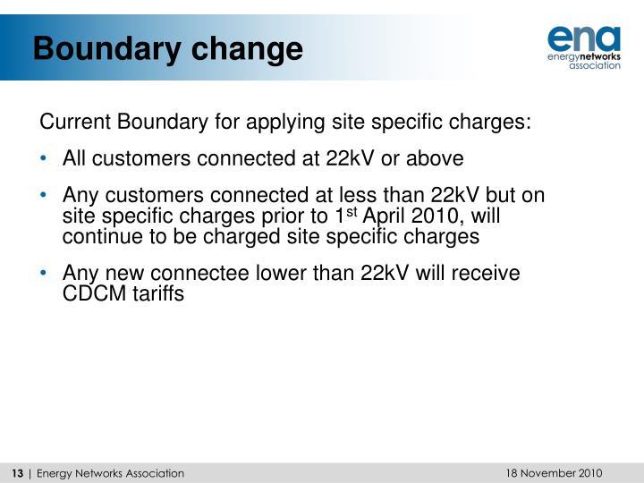 Boundary change