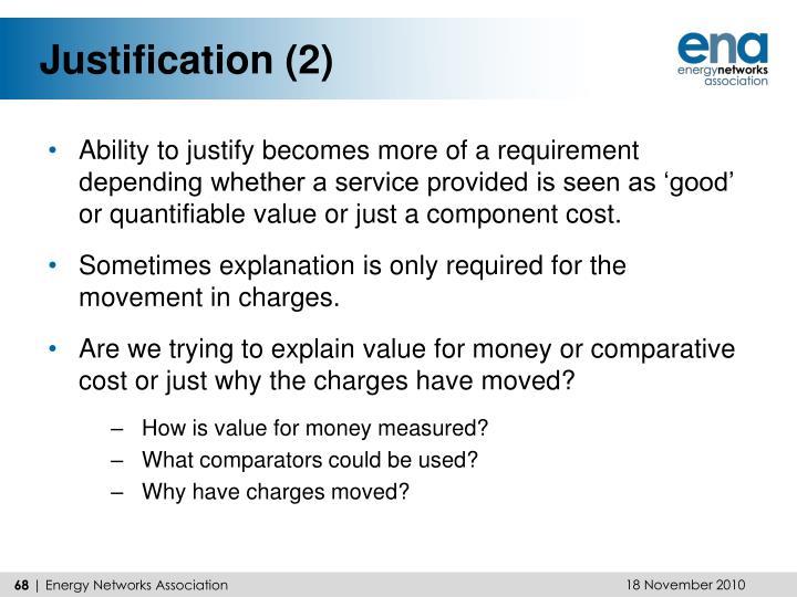Justification (2)
