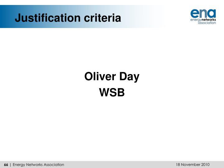 Justification criteria