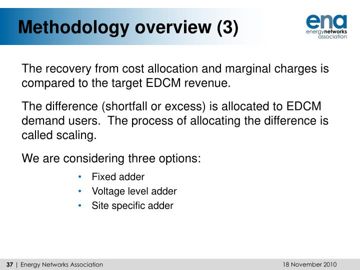 Methodology overview (3)