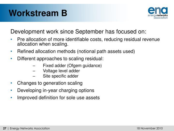 Workstream B