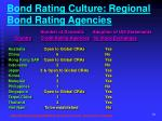 bond rating culture regional bond rating agencies