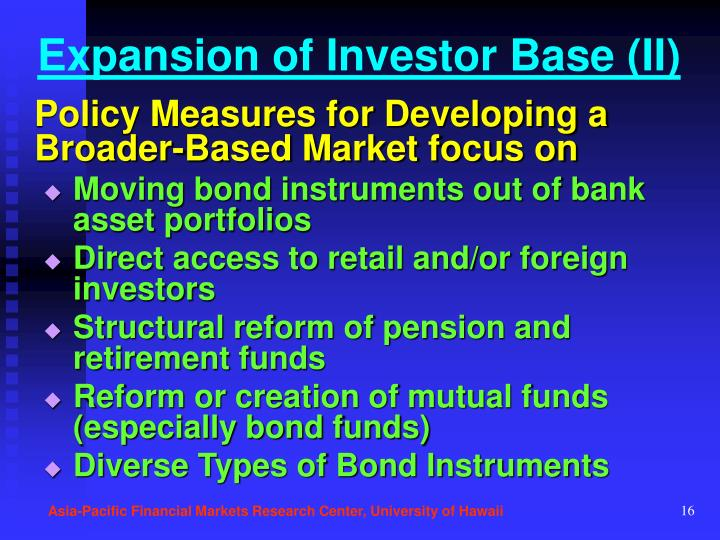 Expansion of Investor Base (II)