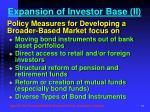 expansion of investor base ii