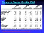 financial sector profile 2002