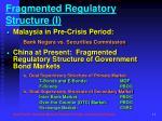 fragmented regulatory structure i