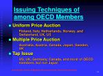 issuing techniques of among oecd members