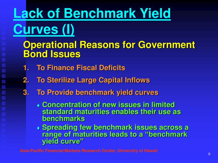 Lack of Benchmark Yield Curves (I)
