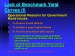 lack of benchmark yield curves i