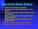 role of inter dealer brokers