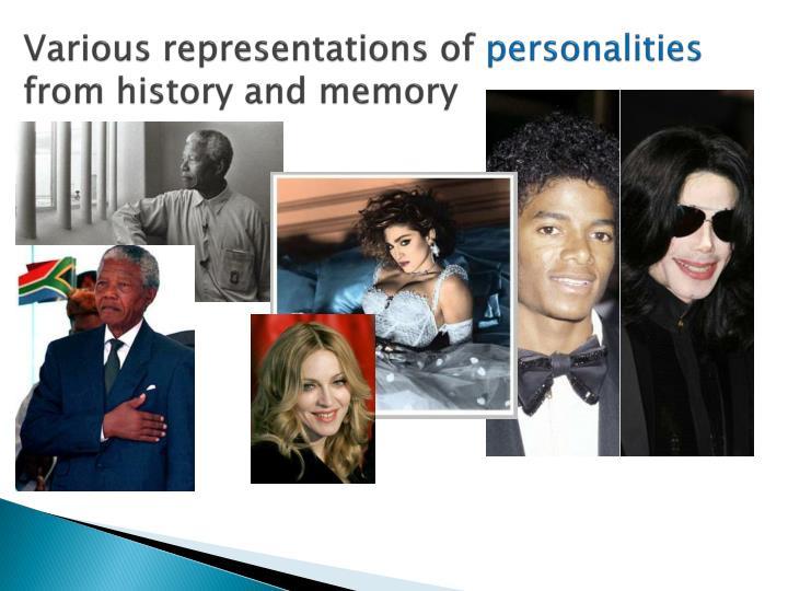 Various representations of
