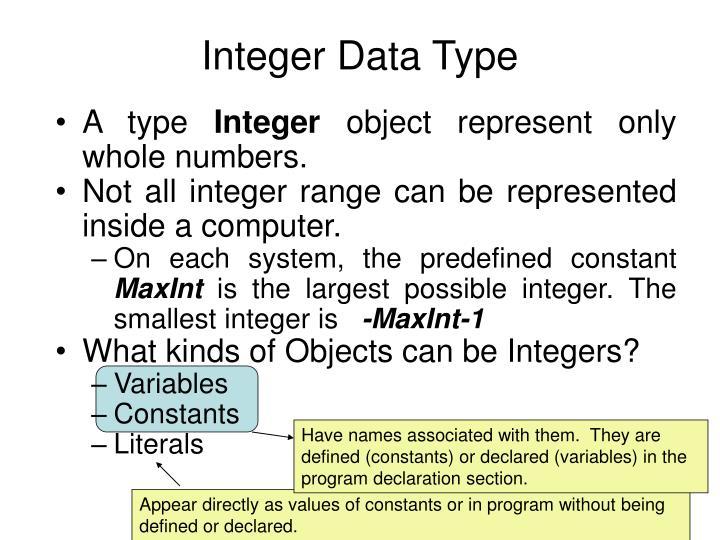 Integer Data Type