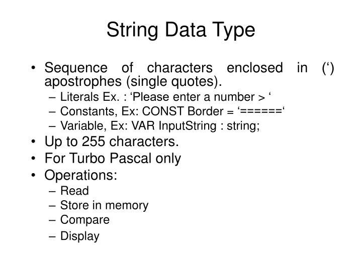 String Data Type