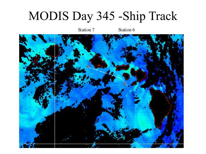 MODIS Day 345 -Ship Track