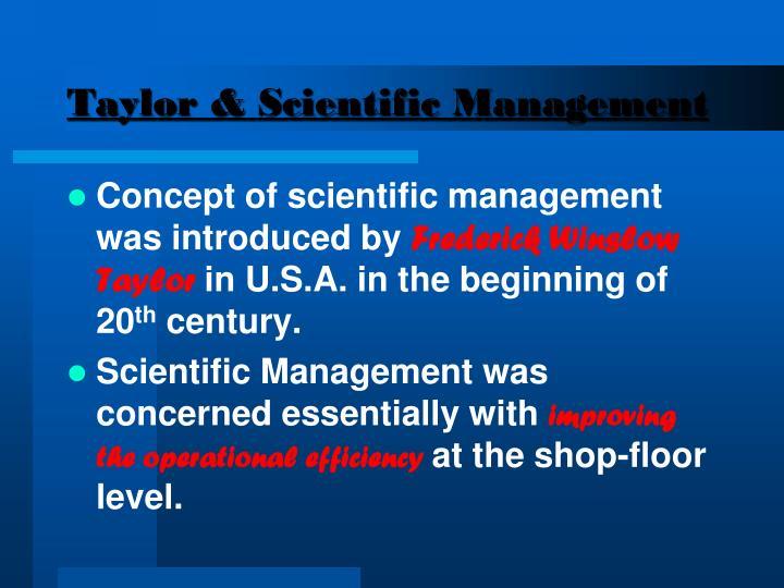 Taylor & Scientific Management
