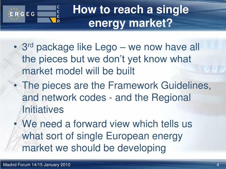 How to reach a single energy market?