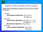 model for qos and be service classes