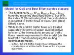 model for qos and best effort service classes