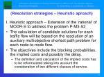 resolution strategies heuristic aproach