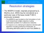 resolution strategies