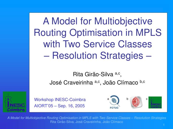A Model for Multiobjective