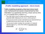 traffic modelling approach micro level