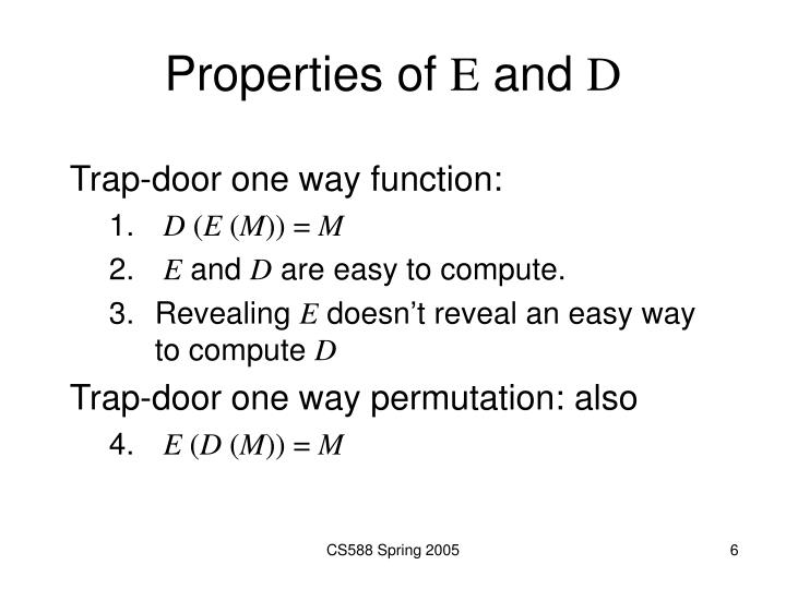 Properties of
