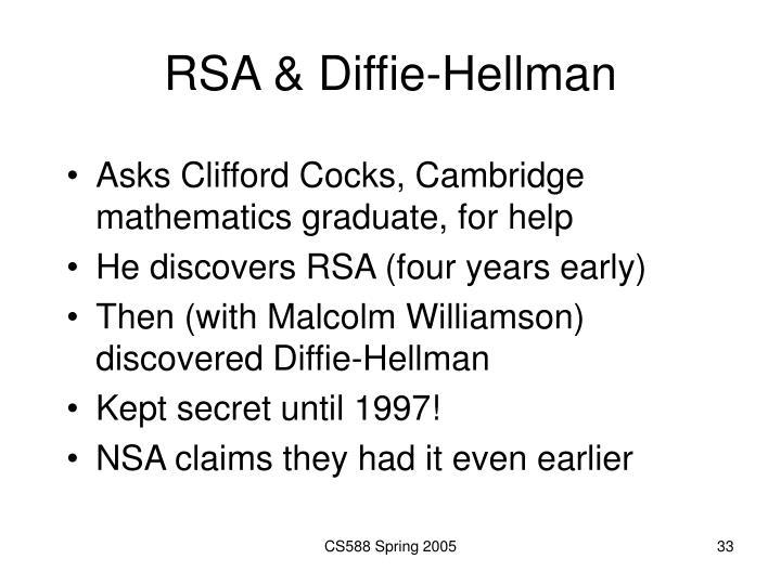 RSA & Diffie-Hellman