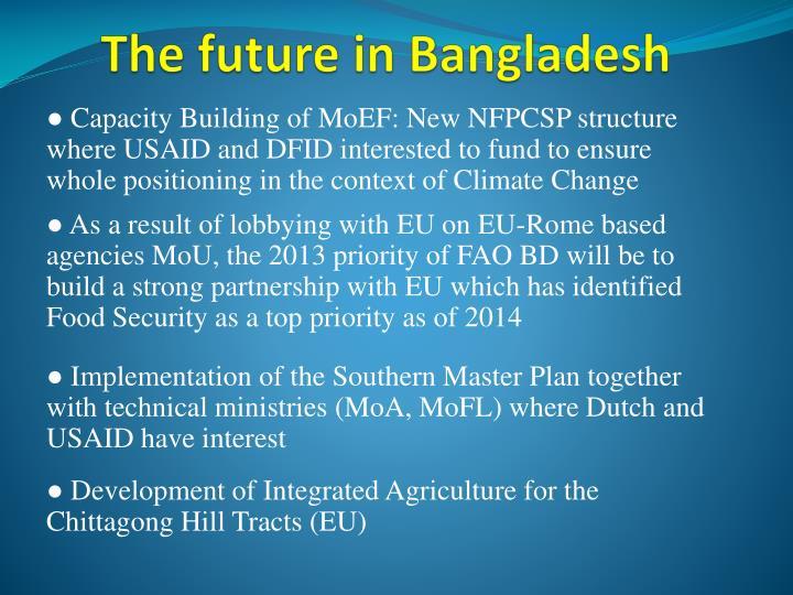 The future in Bangladesh