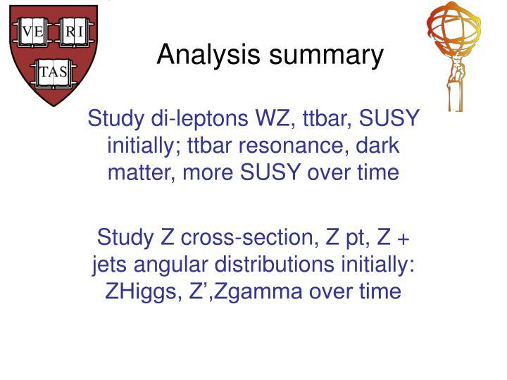 Analysis summary