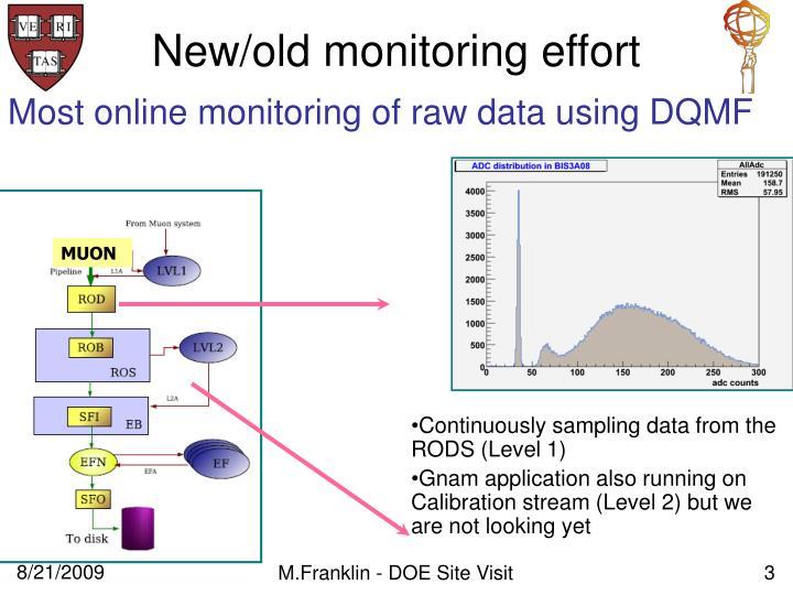 New/old monitoring effort