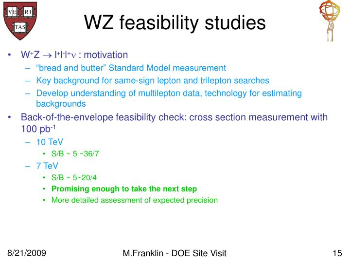 WZ feasibility studies