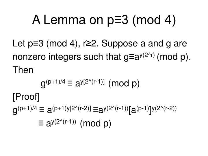 A Lemma on p