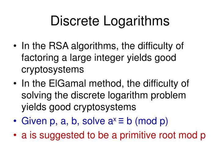 Discrete Logarithms