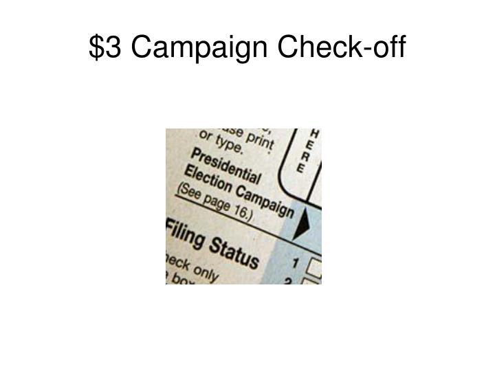 $3 Campaign Check-off