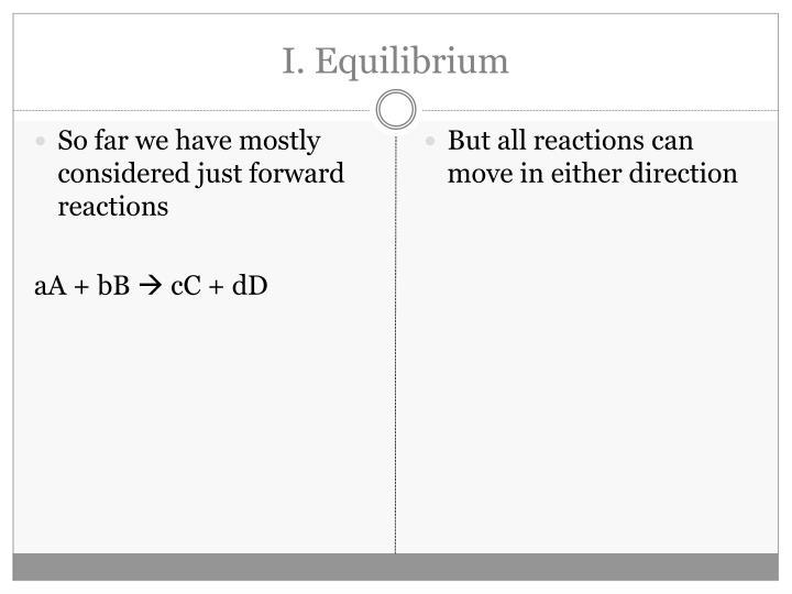 I. Equilibrium