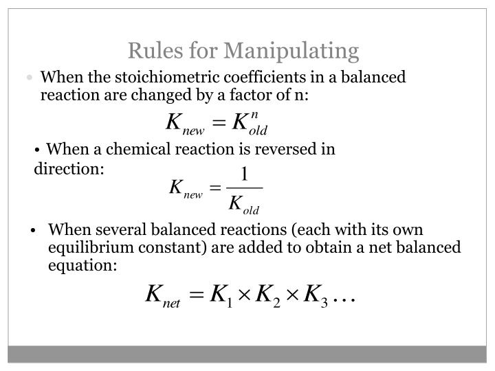 Rules for Manipulating
