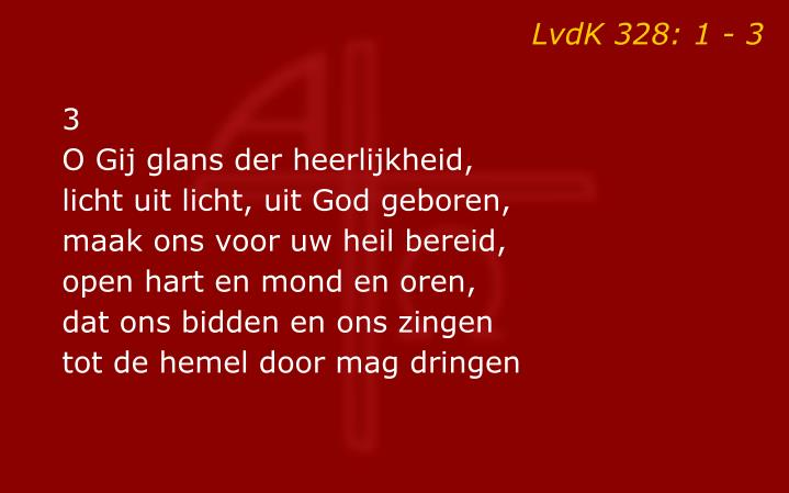 LvdK 328: 1 - 3