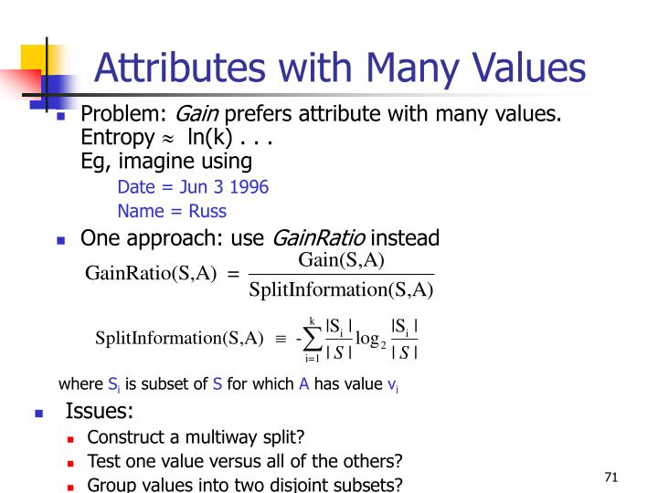 Attributes with Many Values