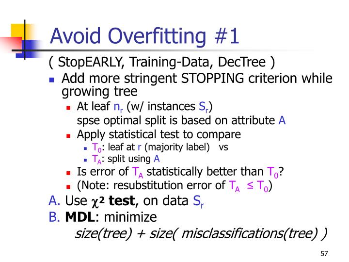 Avoid Overfitting #1