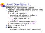 avoid overfitting 1