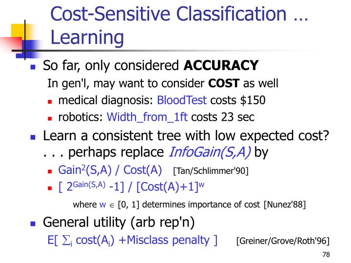 Cost-Sensitive Classification … Learning