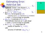 estimating error hold out set