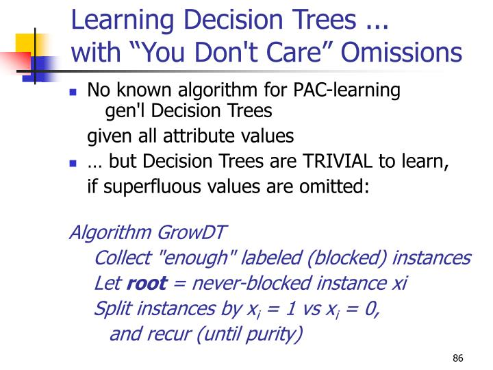 Learning Decision Trees ...