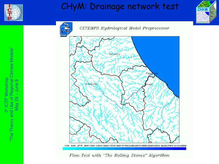 CHyM: Drainage network test