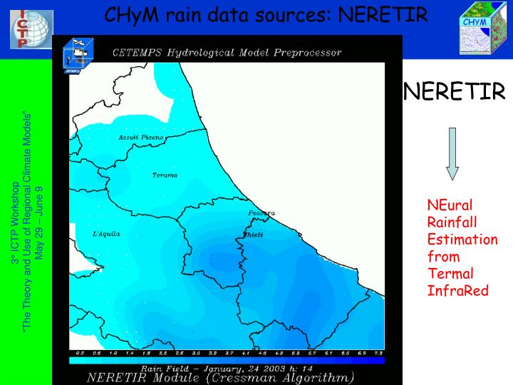 CHyM rain data sources: NERETIR