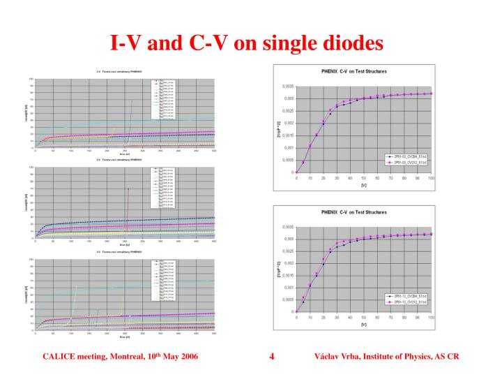 I-V and C-V on single diodes