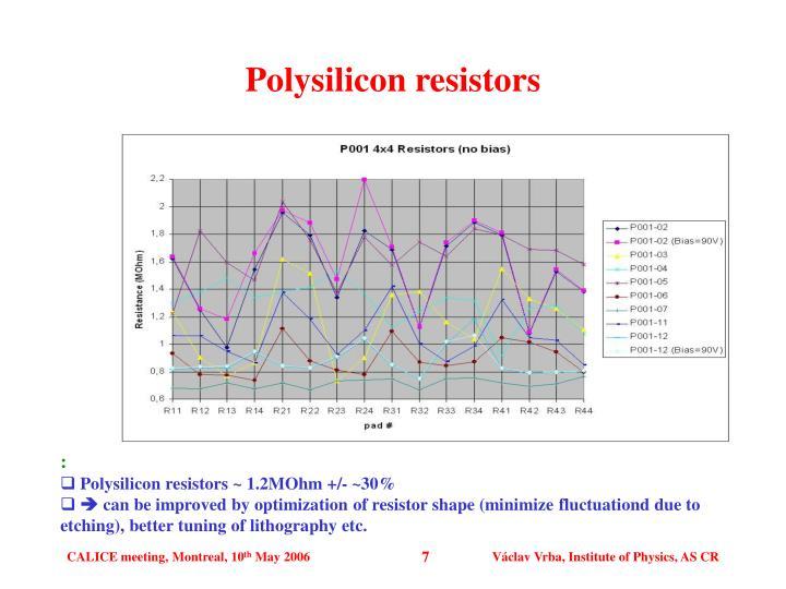 Polysilicon resistors