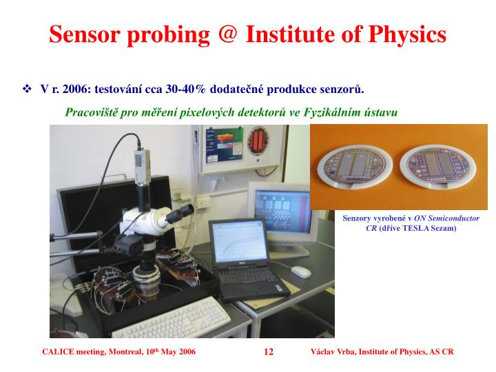 Sensor probing @ Institute of Physics