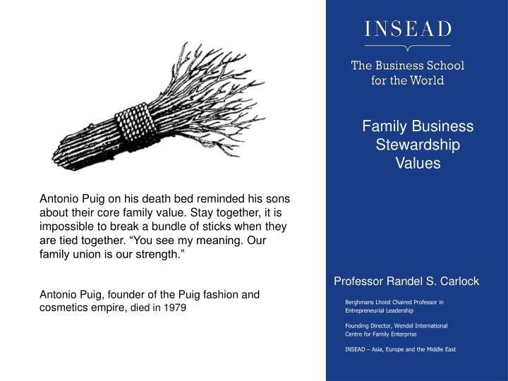 Family Business Stewardship Values